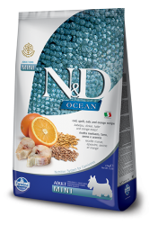 Farmina N&D dog OCEAN adult mini Codfish, spelt, oats&orange - 800 g